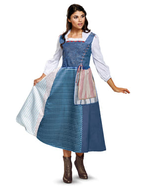 Belle platteland kostuum uit Belle en het Beest deluxe voor vrouw