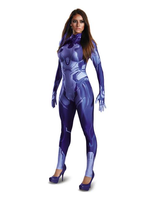 Cortana Halo kostuum tweede huid voor vrouwen