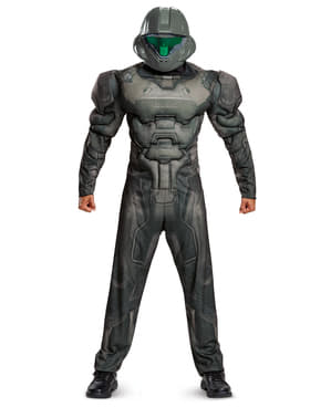 Spartan Halo muscular costume for men