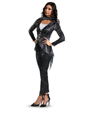 Costume da Jack Skeletron Nightmare Before Christmas per donna