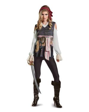 Fato de Jack Sparrow Homens Mortos Não Contam Histórias para mulher