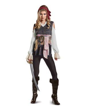 Jack Sparrow Pirates of the Caribbean: Dead Men Tell No Tales Costume for women