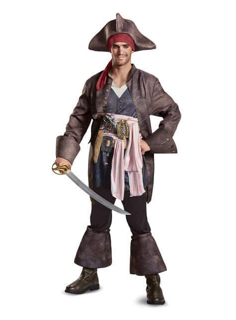 Disfraz de Jack Sparrow La Venganza de Salazar deluxe para hombre