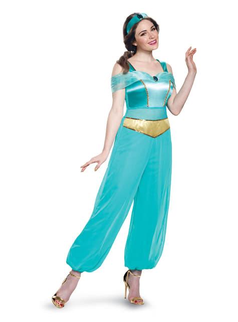Fato de Jasmine deluxe Aladdin para mulher