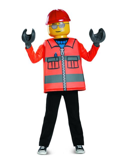 Disfraz de obrero de construcción Lego infantil