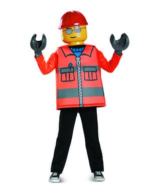 Fato de operário da construção Lego infantil