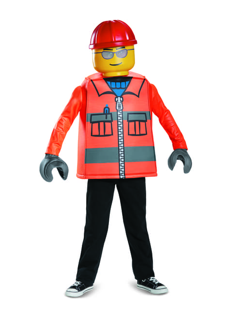 Disfraz de obrero de construcción Lego infantil - infantil