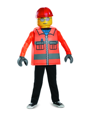 Costum de muncitor în construcții Lego pentru copii