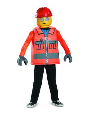 Lego Bauarbeiter Kostüm für Kinder