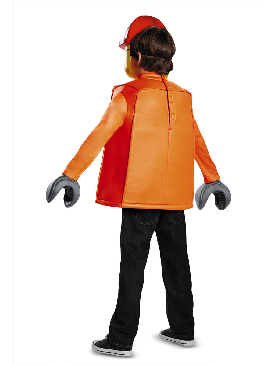 D guisement ouvrier de construction lego enfant funidelia - Deguisement tete de lego ...