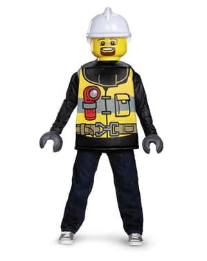 Disfraz de bombero Lego infantil
