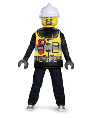 Lego Feuerwehrmann Kostüm für Kinder