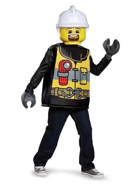 Disfraz de bombero Lego infantil - hombre