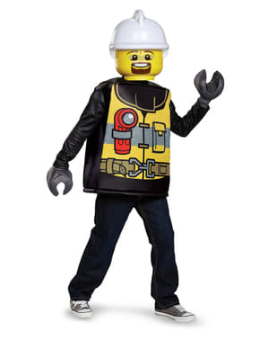 Lego tűzoltó jelmez egy gyermek számára