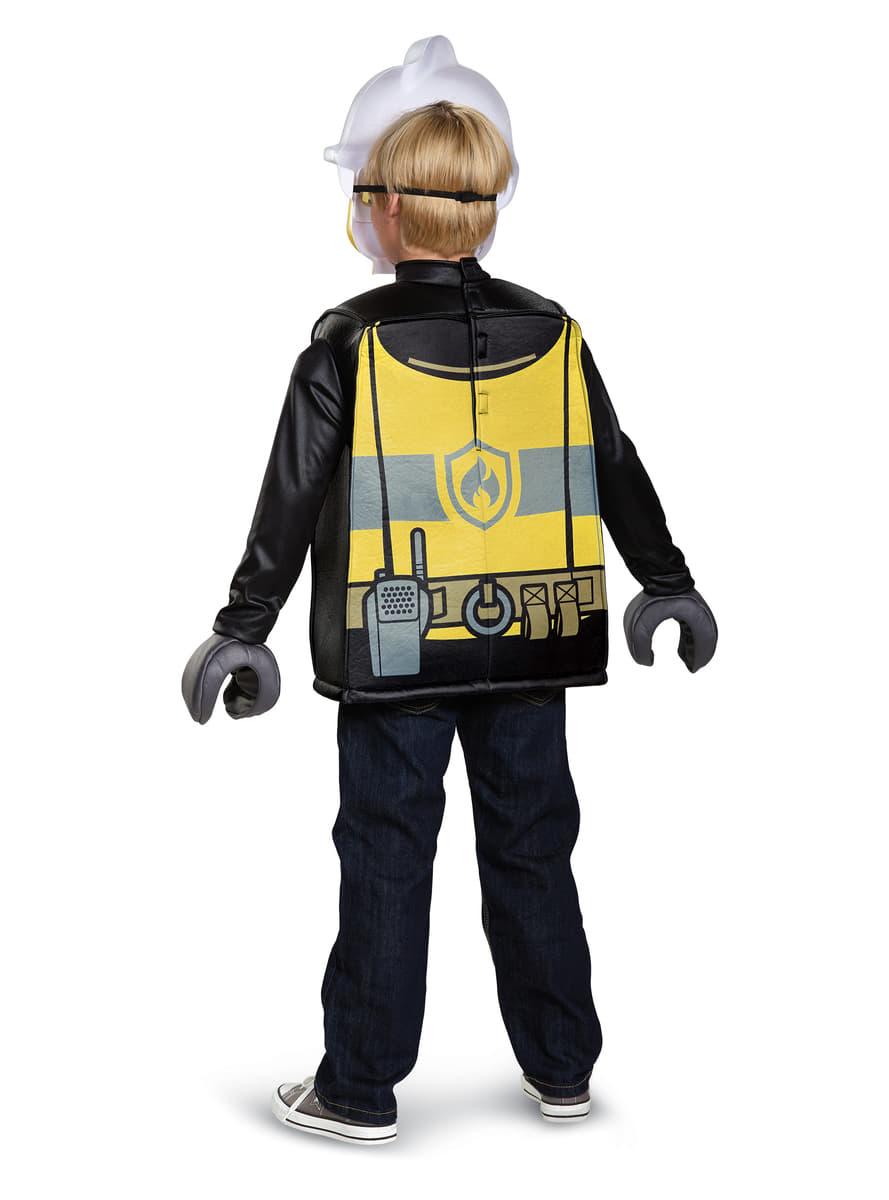 D guisement pompier lego enfant funidelia - Deguisement tete de lego ...