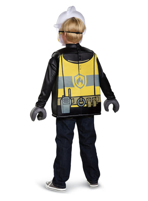 Lego Firefighter costume for a child