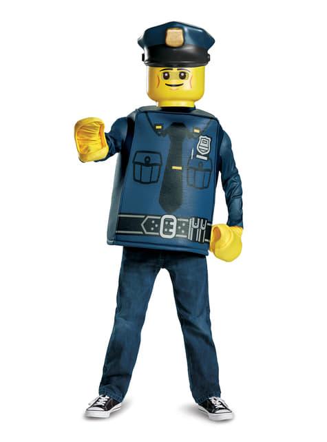 Disfraz de policía Lego infantil