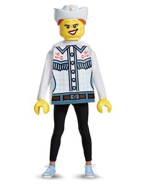 Maskeraddräkt cowboytjej Lego barn