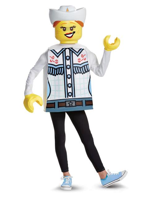 Disfraz de vaquera Lego para niña - niña