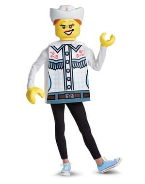 Dívčí kostým kovbojka (Lego)