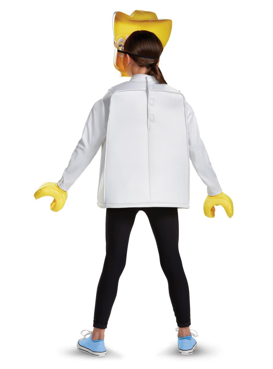 Lego cowgirl kost m f r m dchen funidelia - Deguisement tete de lego ...