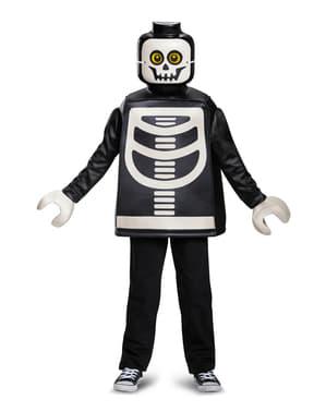 Fato de esqueleto Lego infantil