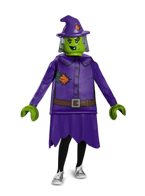 Disfraz de bruja malévola Lego para niña