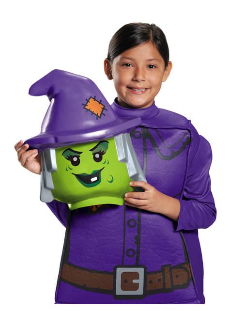 Fato de bruxa malévola Lego para menina