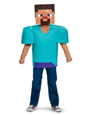 Steve Minecraft kostume til børn