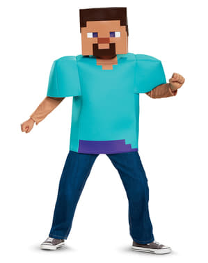 Fato de Steve Minecraft para menino