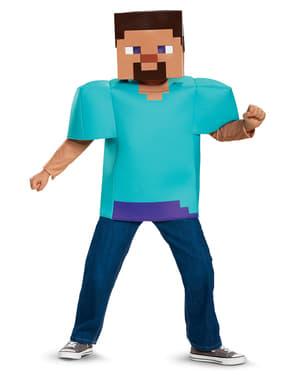 Maskeraddräkt Steve Minecraft för barn