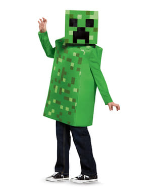 Fato de Creeper Minecraft para menino