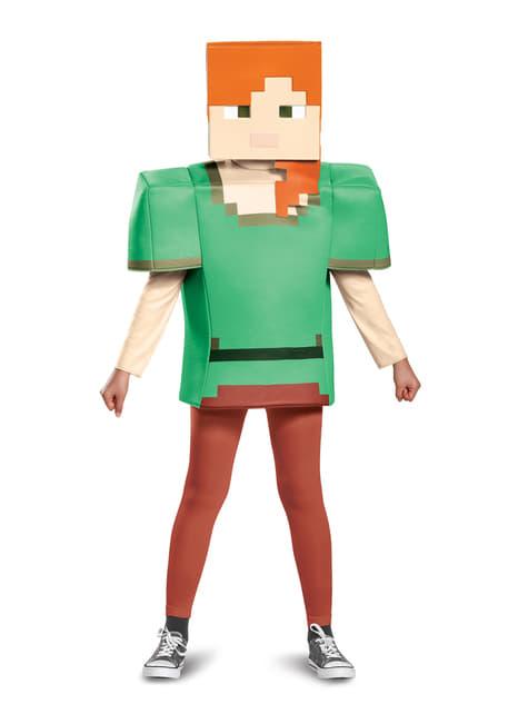 Disfraz de Alex Minecraft para niña