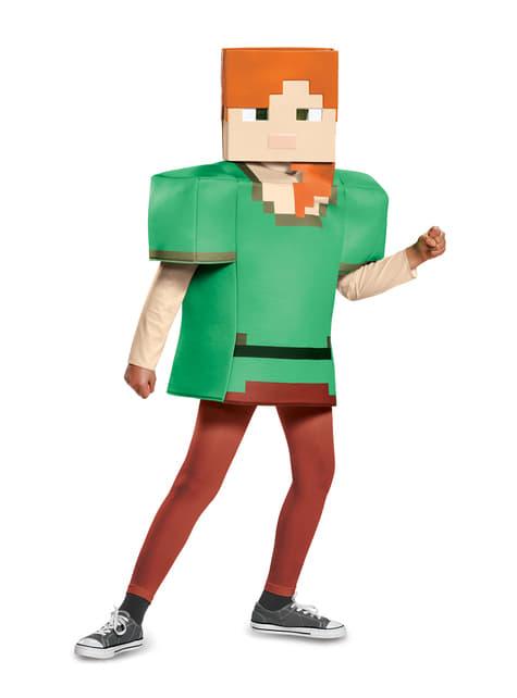 Disfraz de Alex Minecraft para niña - niña