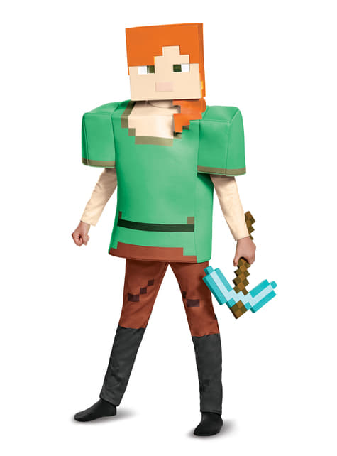 Disfraz de Alex Minecraft deluxe para niña