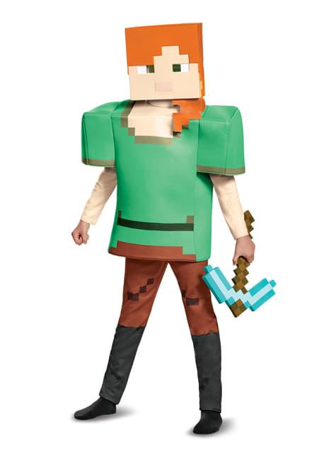 Fato de Alex Minecraft deluxe para menina