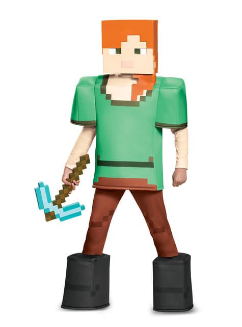 Disfraz de Alex Minecraft prestige para niña