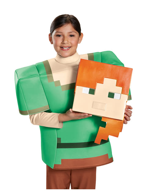 Disfraz de Alex Minecraft prestige para niña - original