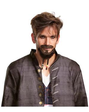 Jack Sparrow'un bıyıkları ve sakalları Dead Men'den