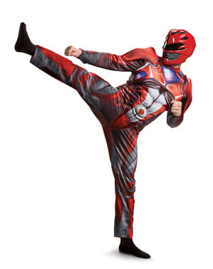 Muscular Red Power Ranger Costume for Adults