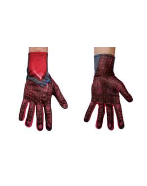 パワーレンジャームービー大人用の赤い手袋