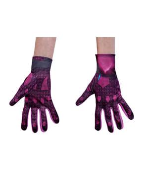 Rosafarbene Handschuhe Power Rangers Movie für Erwachsene