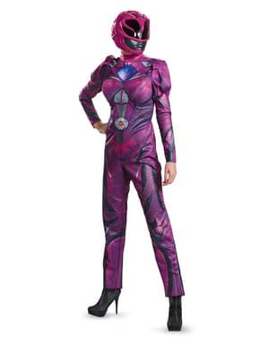 Fato de Power Ranger cor-de-rosa movie deluxe para mulher