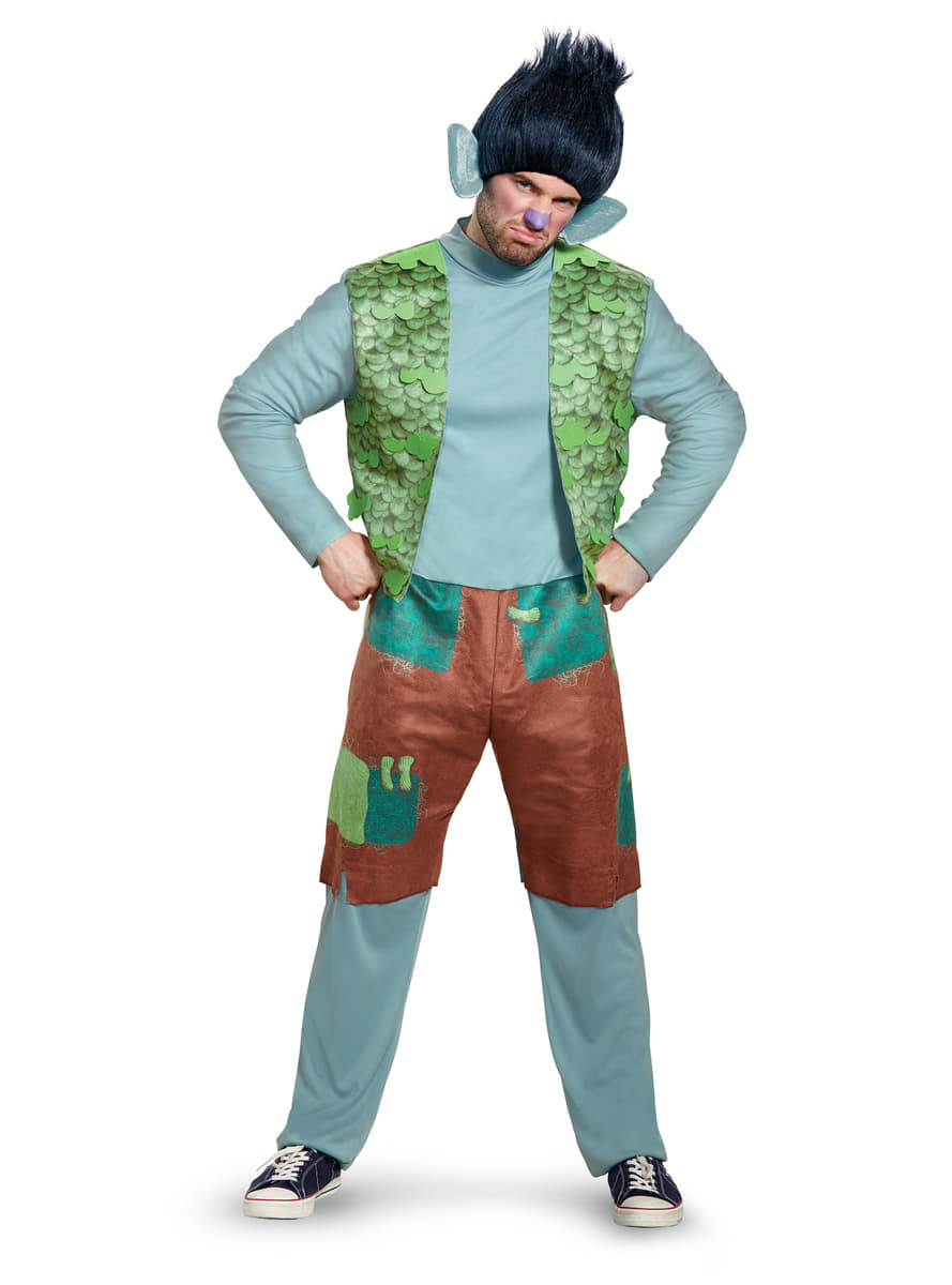 Branch Trolls Deluxe Costume For Men The Coolest Funidelia