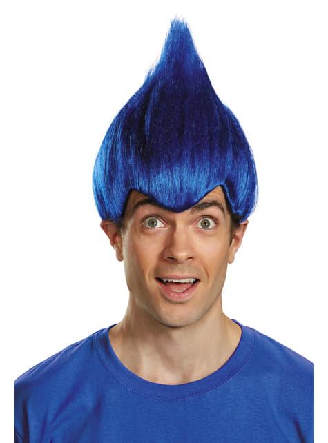 Peluca de Trolls azul oscuro para adulto - para tu disfraz