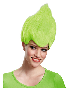 Peluca de Trolls verde para adulto ... e9b43b80bfe
