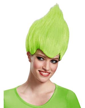 Peruk Troll grön för vuxen