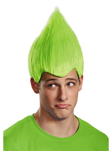 Trolls green wig for adults
