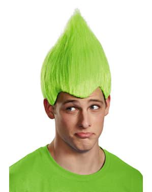 Perucă Trolls verde pentru adult