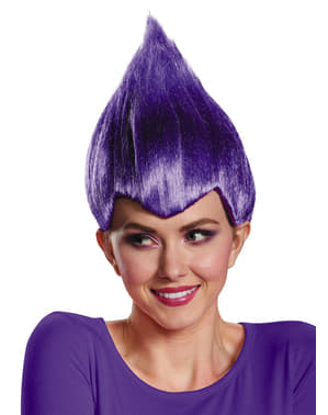 Perruque Trolls violette adulte